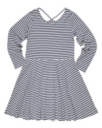 Grey &White Stripe Knit. 50% Cotton 50% Polyester