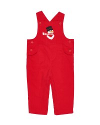 Red Corduroy.  100% Cotton.  Snowman Applique