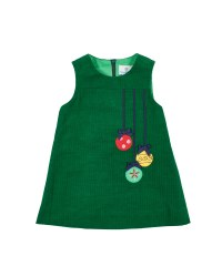 Green Corduroy.  100% Cotton.  Appliqued Ornaments