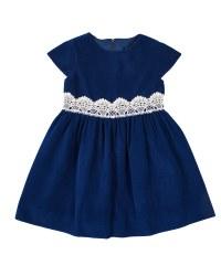 Royal Twill Velvet. 100% Polyester, Lace Waist Trim