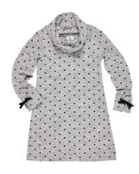 Grey & Black Polka Dot.84% Polyester 13% Rayon 3% Elastan