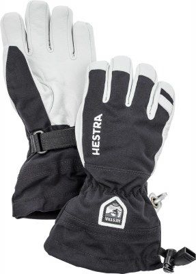 2020 Hestra Army Leather Heli Junior Glove Black 4