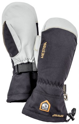 2021 Hestra Mens Army Leather Gore-Tex Mitten Black 9