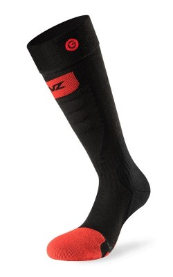 2020 Lenz 5.0 ToeCap Slim Heat Sock Only (no kit) Black/Red XS