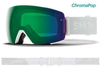 2020 Smith IO Mag White Vapor with ChromaPop Eday Green Mirror Lens