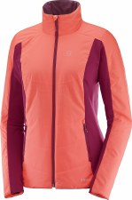 2018 Salomon Drifter Womens Jacket Fluo Coral/Beet Red Small