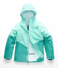 2019 The North Face Girls Brianna Jacket Blue Mint Large