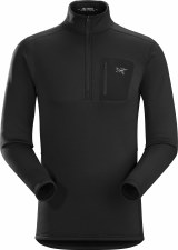 2020 Arcteryx Men's RHO AR Zip Neck Black Large