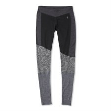 2020 Smartwool Women's Merino 250 Asym Bottom Black Snow Swirl S
