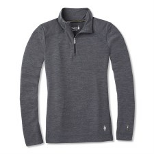 2021 Smartwool Women's Merino 250 1/4 Zip Medium Gray Heather Small
