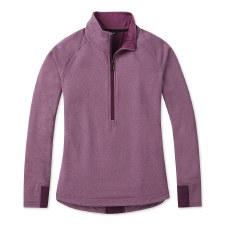 2020 Smartwool Women's Merino 1/2 Zip PO Sangria Heather Small