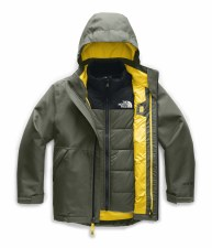 2020 TNF Boy's Freash Tracks Triclimate Jkt New Taupe Green Medium