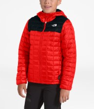 2020 TNF Boy's Thermoball ECO Hoodie Night Green Small