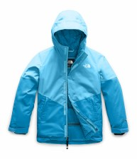 2020 TNF Girl's Brianna Insulated Jacket Turquoise Blue Extra Small