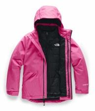 2020 TNF Girl's Fresh Tracks Triclimate Jacket Mr. Pink Medium