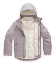 2020 TNF Girl's Fresh Tracks Triclimate Jacket Ashen Purple Medium