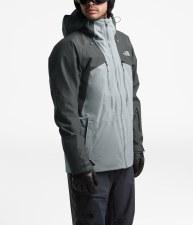 2020 TNF Men's Powderflo Jacket Asphalt Grey/Mid Grey Heather ExtraLarge
