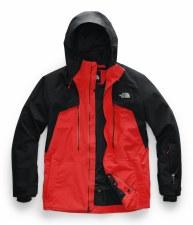 2020 TNF Men's Powderflo Jacket Fiery Red/TNF Black Medium