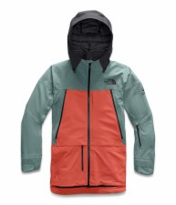 2020 TNF Women's A-Cad Jacket Trellis Green/Rad Orange/Black Small