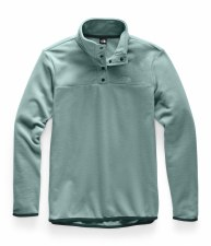 2020 TNF Women's TKA Glacier Snap-Neck PO Trellis Green Small