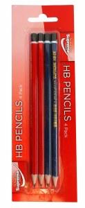 4 Pack HB Pencils