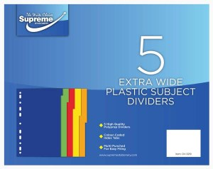 Subject Divider 5 Part Ex Wide
