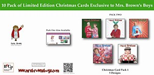 Mrs. Brown Christmas Cards PK2