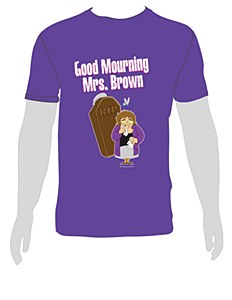 Good Mourning Purple Tee XXL