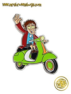 Mrs. Brown Scooter Pin