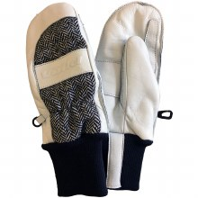 Leather Work Mitt White M