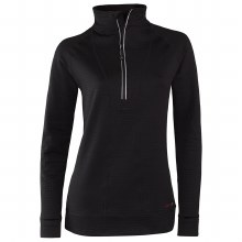 Wmn 1/2 Zip Black XL