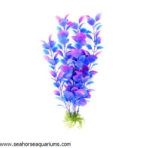 "Boyu  12"" Purple Plastic Plant"