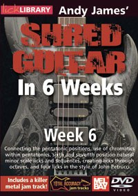 Andy James Shred Guitar Wk 6