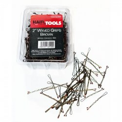 "Hair Tools 2"" Waved Grips Brown 500pk"