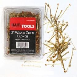 """Hair Tools 2"""" Waved Grips Blonde 500pk"""