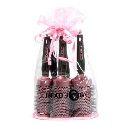 Head Jog Pink Ceramic Brush Set