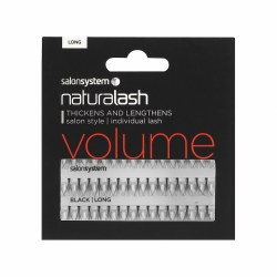 Salon System Naturlash Individual Eyelashes Flare Black Long