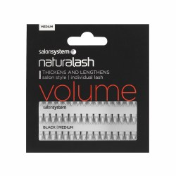 Salon System Naturalash Individual Eyelashes Flare Black Medium