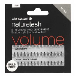 Salon System Naturalash Individual Lashes Flare Ultra Black Long