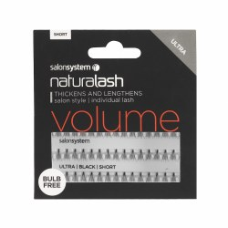 Salon System Naturalash Individual Lashes Flare Ultra Black Short