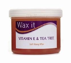 Wax It Soft Depilatory Wax with Vitamin E & Tea Tree 475g