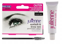 Julienne Eyelash and Eyebrow Tint Midnight Black 15ml