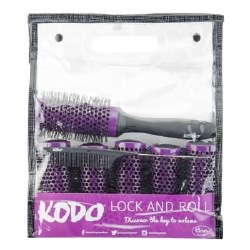 Kodo Lock and Roll Brush Set Purple 25mm