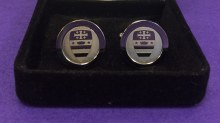 CUFF LINKS-SILVER W/NCS SEAL