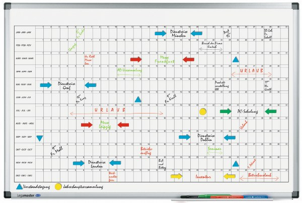 Premium Year Planner Horizontal 60x90cm