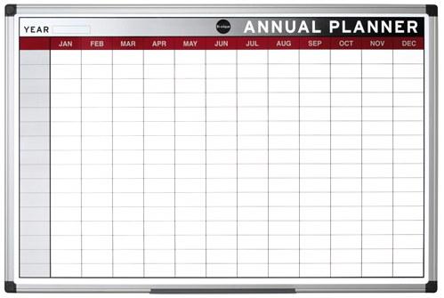 Bi-Office Magnetic Annual Planner 900 x 600mm