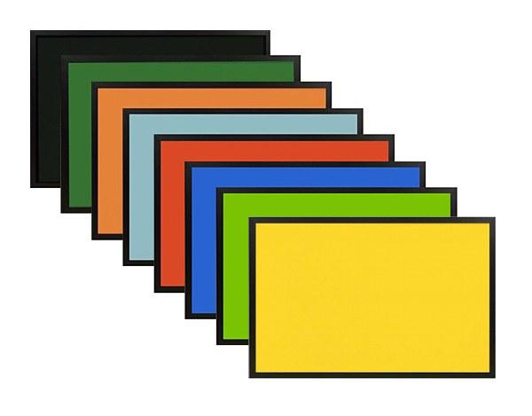 NEW Coloured Cork Boards Black Frame