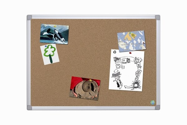 Bi- Office 'Earth-It' Cork Boards Aluminium Frame
