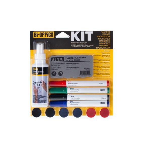 Bi-Office Magnetic White Board Kit