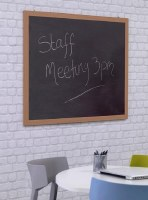 Chalk Writing Board  Wood Effect Frame